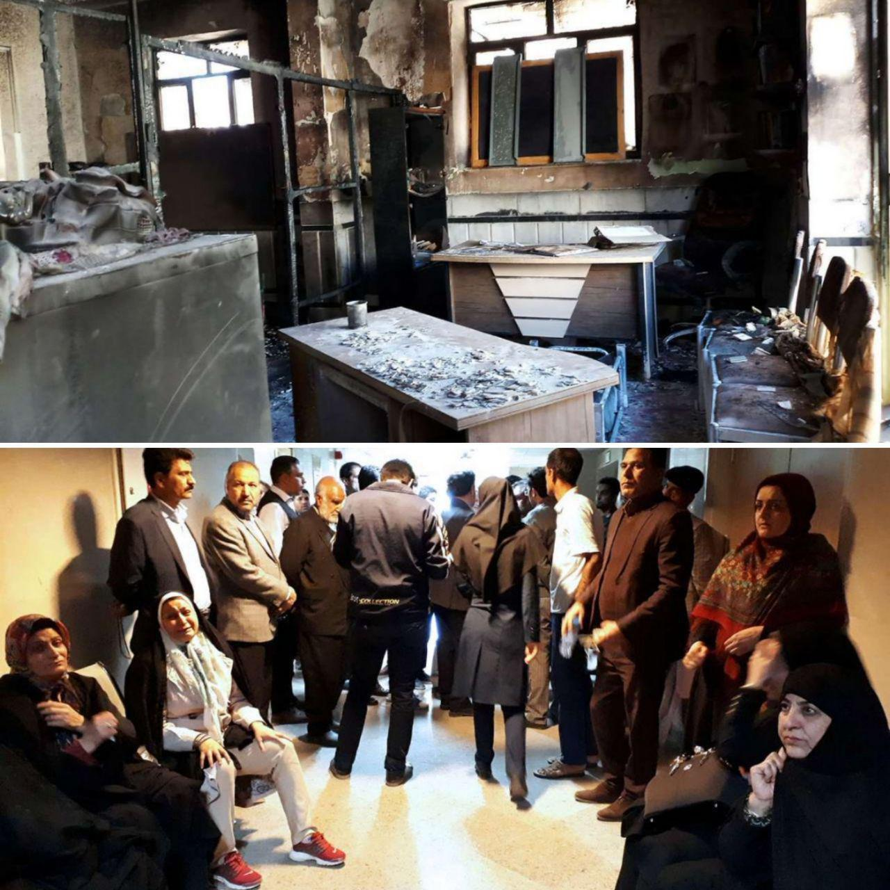 فوت سه دانش آموز در پی آتش سوزی یک مدرسه دخترانه در زاهدان+ تصاویر